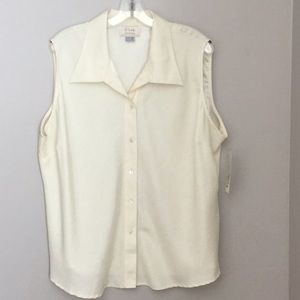 Voir Collection Ivory Sleeveless Blouse NWT